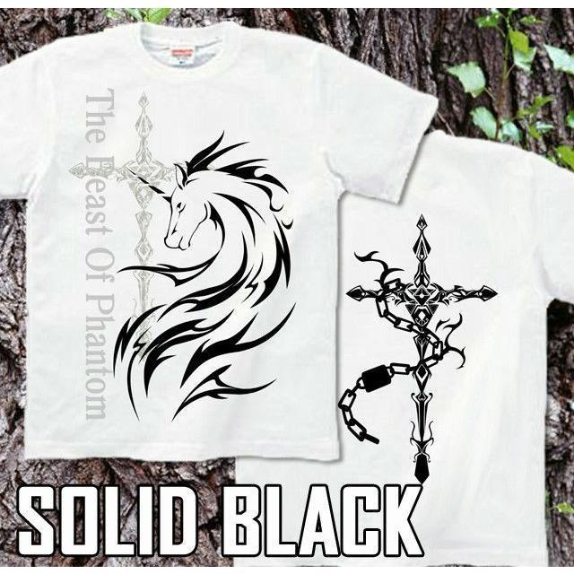 Tシャツ ユニコーン 馬 十字架|genju|08