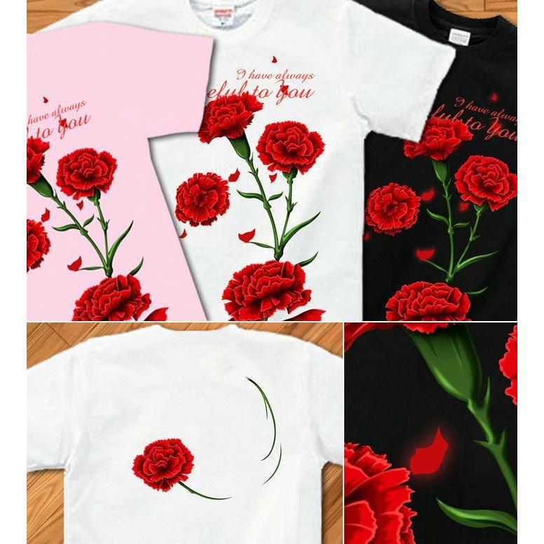 Tシャツ カーネーション 母の日 プレゼント|genju|02