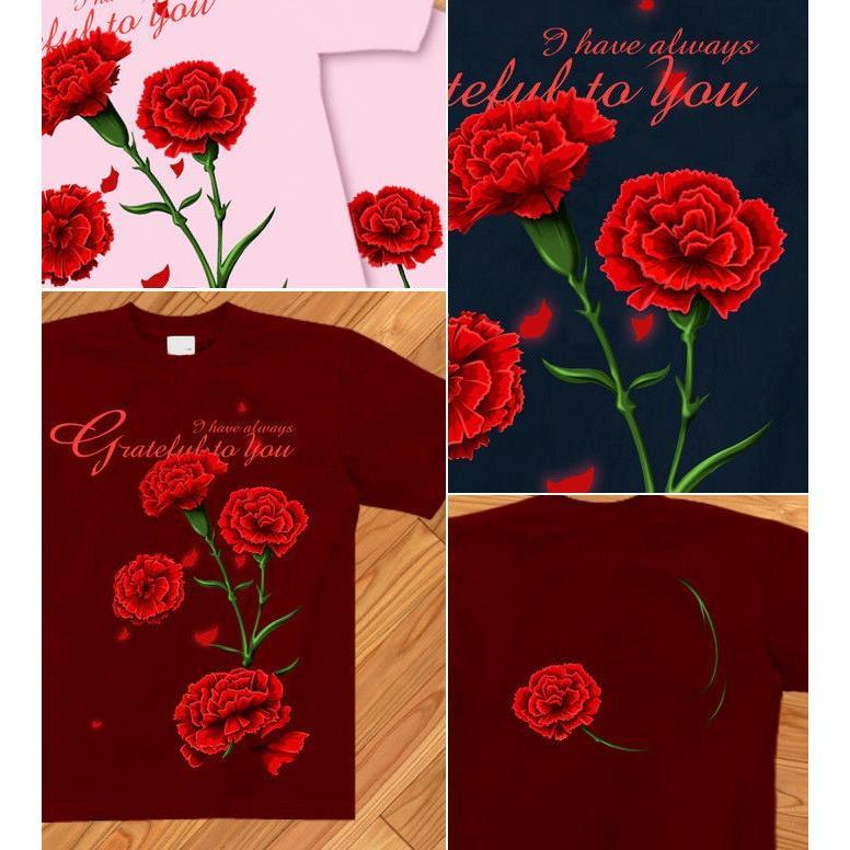 Tシャツ カーネーション 母の日 プレゼント|genju|03