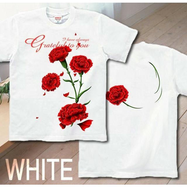 Tシャツ カーネーション 母の日 プレゼント|genju|04