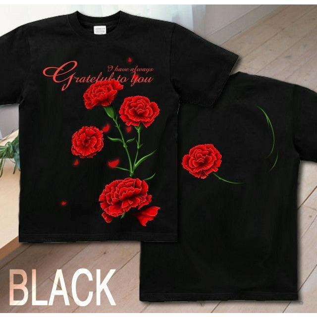 Tシャツ カーネーション 母の日 プレゼント|genju|05