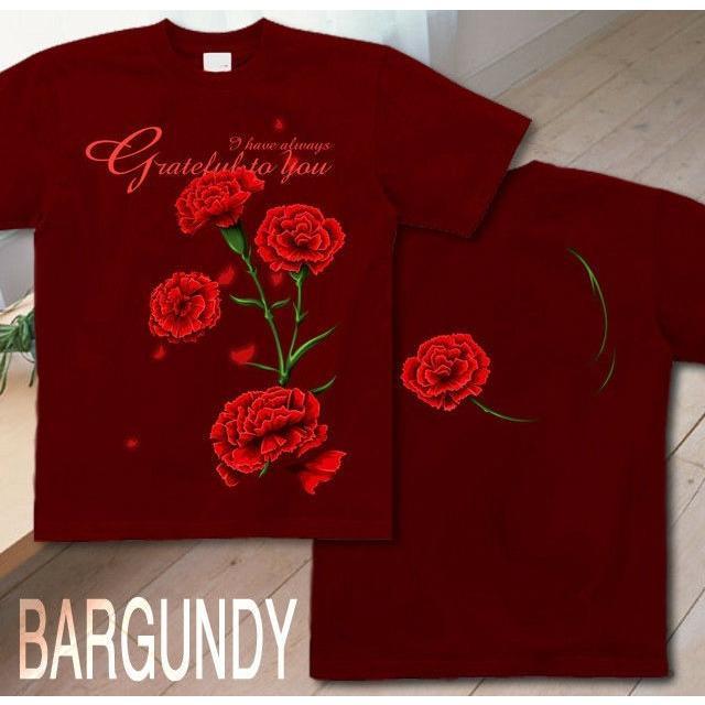 Tシャツ カーネーション 母の日 プレゼント|genju|06