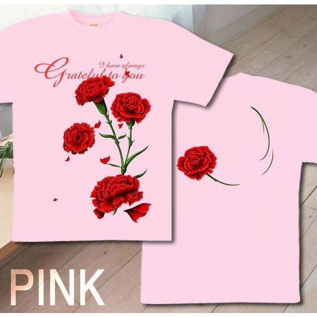 Tシャツ カーネーション 母の日 プレゼント|genju|07