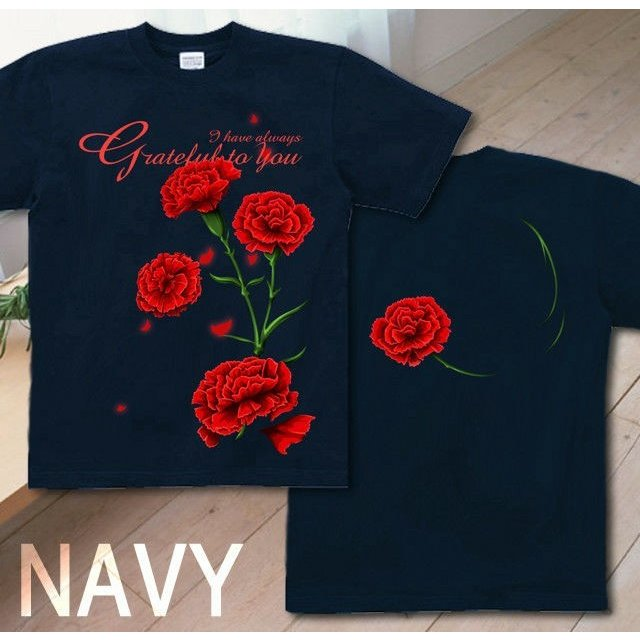 Tシャツ カーネーション 母の日 プレゼント|genju|08