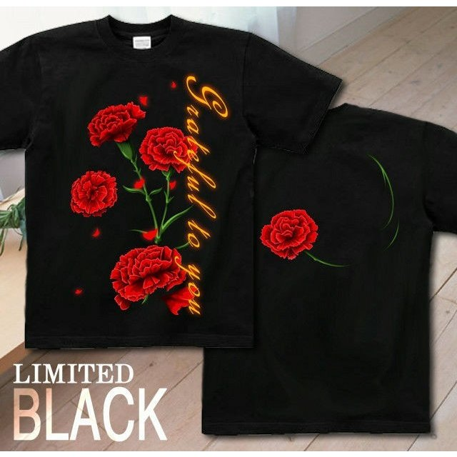 Tシャツ カーネーション 母の日 プレゼント|genju|09