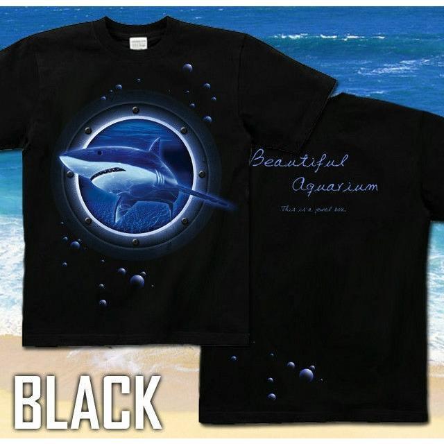 Tシャツ 鮫 海 夏 水族館 サイズ|genju|03
