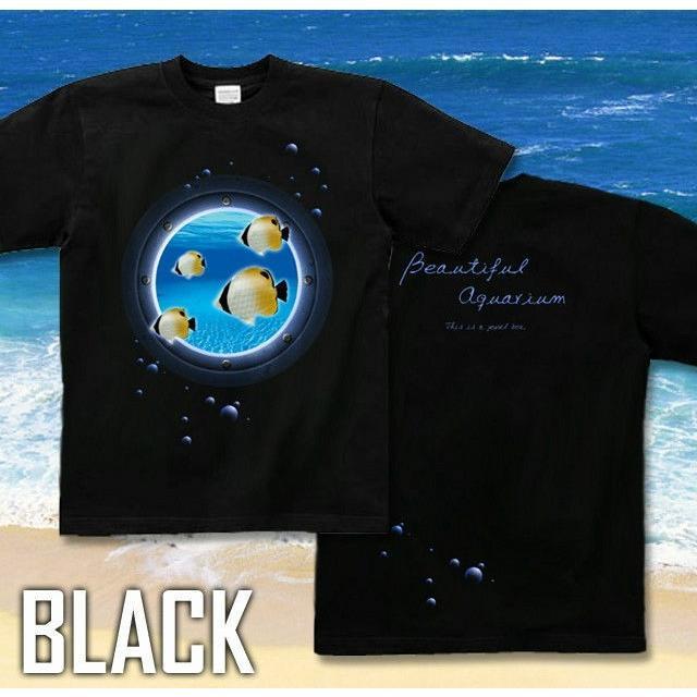 Tシャツ チョウチョウウオ 海 夏 水族館|genju|04