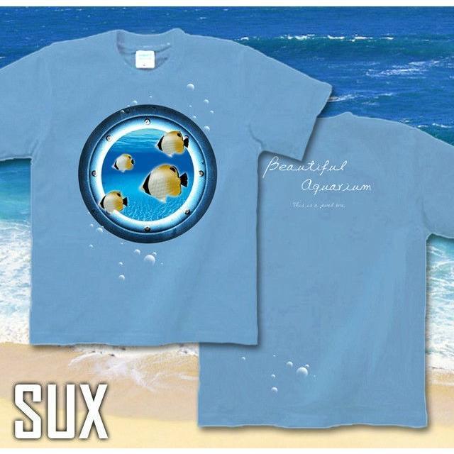 Tシャツ チョウチョウウオ 海 夏 水族館|genju|07