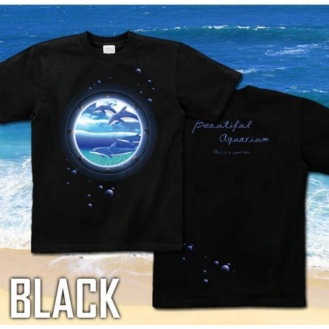 Tシャツ イルカ 海 夏 水族館 サイズ|genju|04