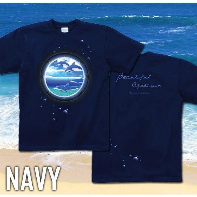 Tシャツ イルカ 海 夏 水族館 サイズ|genju|05