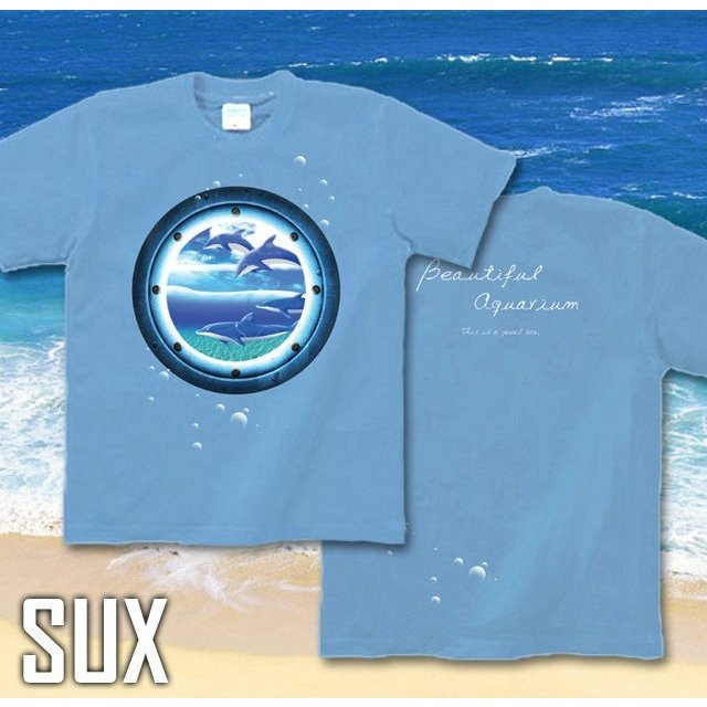 Tシャツ イルカ 海 夏 水族館 サイズ|genju|07
