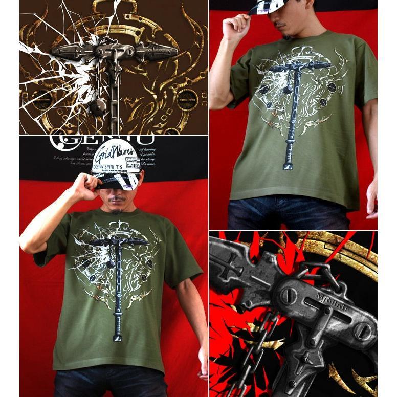 Tシャツ 武器 ハンマー サイズ|genju|03