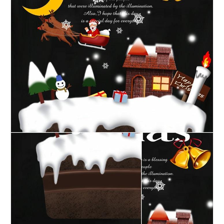 Tシャツ クリスマス ケーキ スポーツジム|genju|02