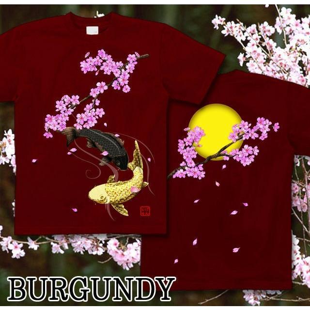 Tシャツ 和柄 鯉 桜河 サイズ genju 08