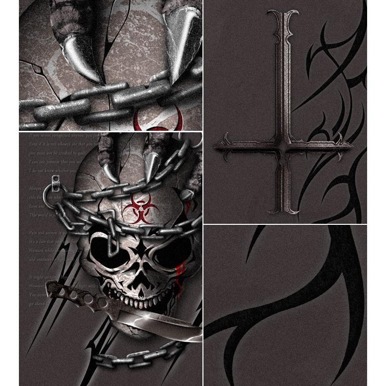 Tシャツ スカル ロック メタル ナイフ|genju|05