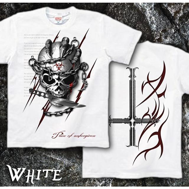 Tシャツ スカル ロック メタル ナイフ|genju|07