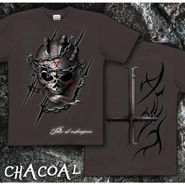 Tシャツ スカル ロック メタル ナイフ|genju|08