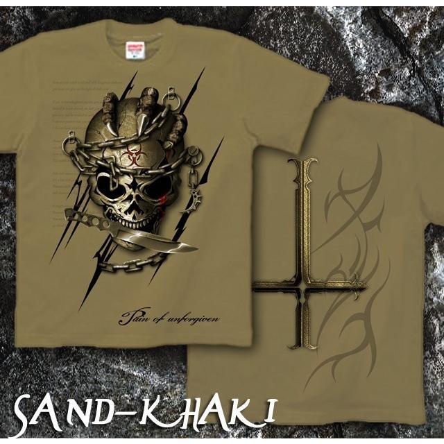 Tシャツ スカル ロック メタル ナイフ|genju|09