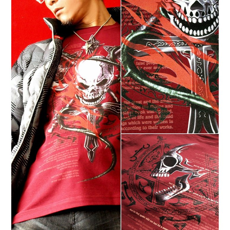 Tシャツ スカル ハード メタル ロック|genju|02