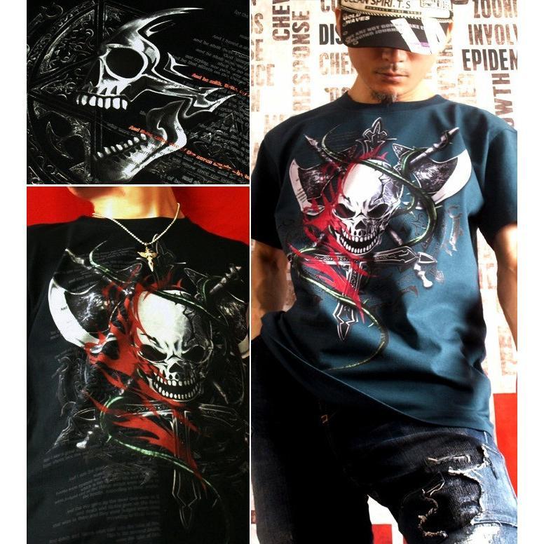 Tシャツ スカル ハード メタル ロック|genju|04
