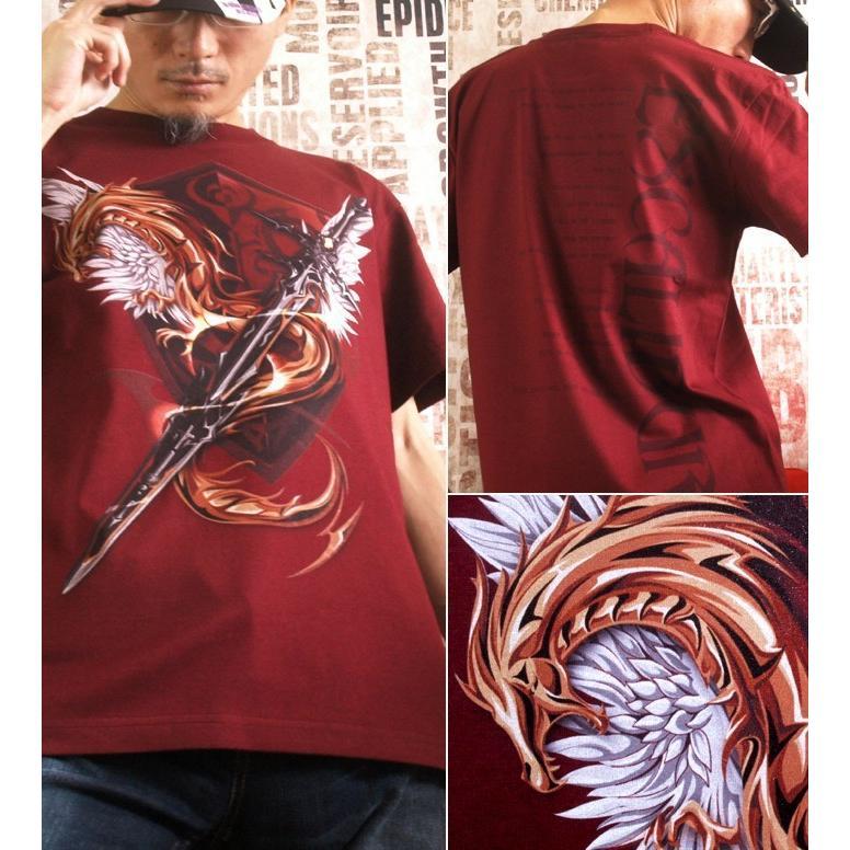 Tシャツ 剣 ドラゴン 竜 ファンタジー genju 02