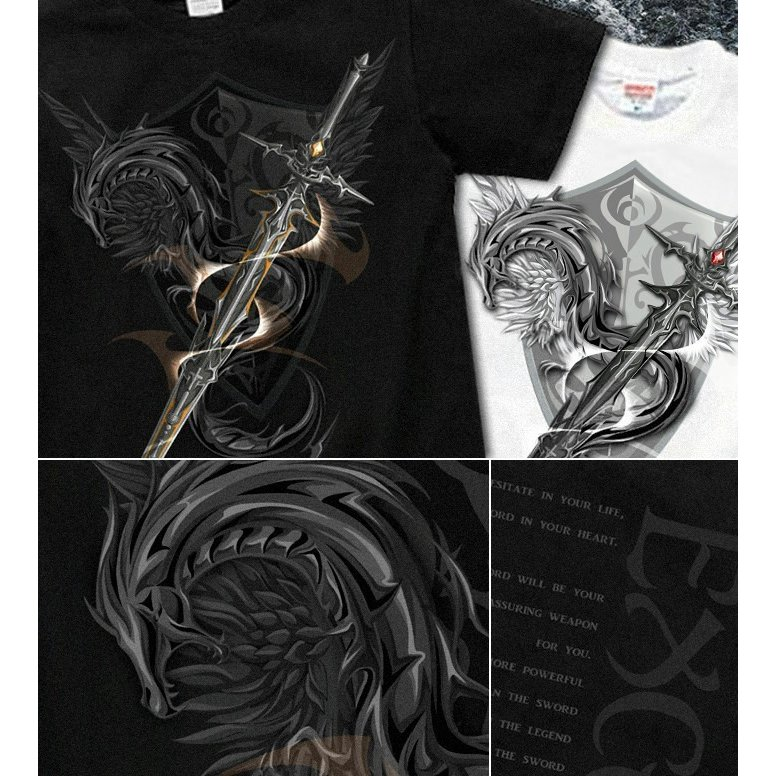 Tシャツ 剣 ドラゴン 竜 ファンタジー genju 05