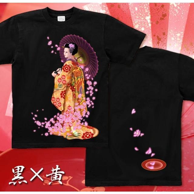 Tシャツ 桜 花見 和柄 舞妓 京都 土産 genju 04