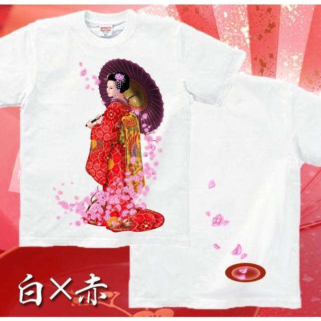 Tシャツ 桜 花見 和柄 舞妓 京都 土産 genju 07