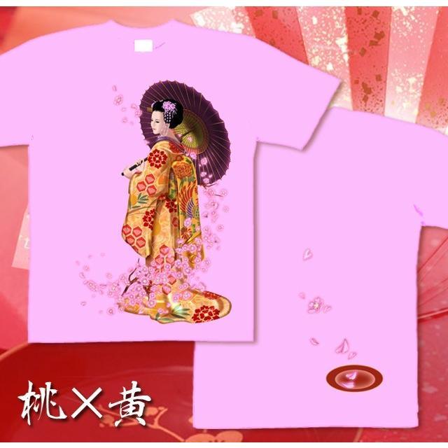 Tシャツ 桜 花見 和柄 舞妓 京都 土産 genju 09