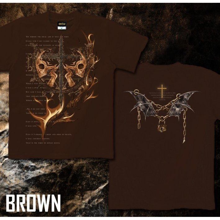 Tシャツ スカル ロック メタル 十字架 genju 06