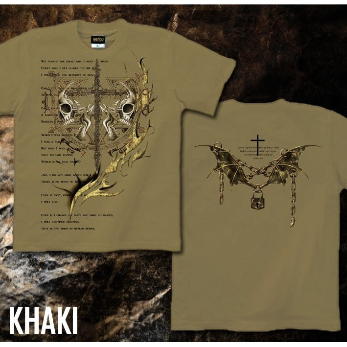 Tシャツ スカル ロック メタル 十字架 genju 09