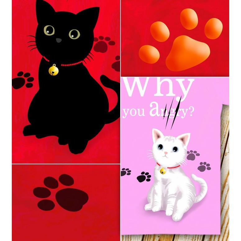 Tシャツ 可愛い 猫 ネコ にくきゅう|genju|02