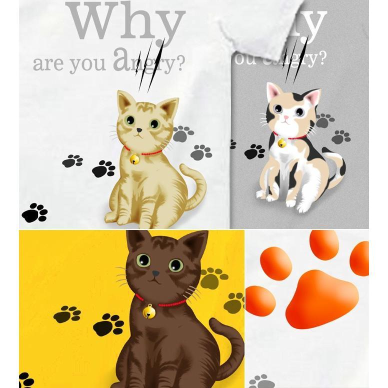 Tシャツ 可愛い 猫 ネコ にくきゅう|genju|03