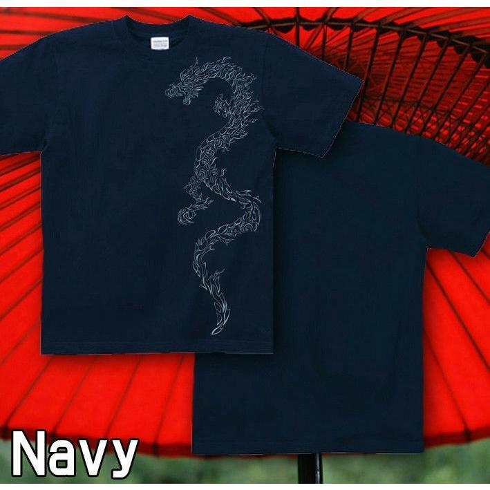 Tシャツ トライバル 竜 龍 和柄 入れ墨|genju|06