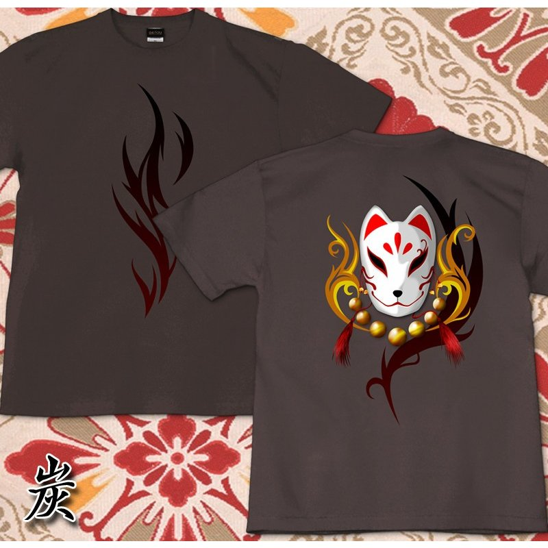 GENJU 和柄 Tシャツ メンズ 狐  トライバル|genju|07