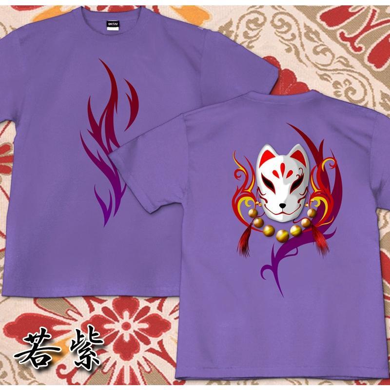 GENJU 和柄 Tシャツ メンズ 狐  トライバル|genju|08