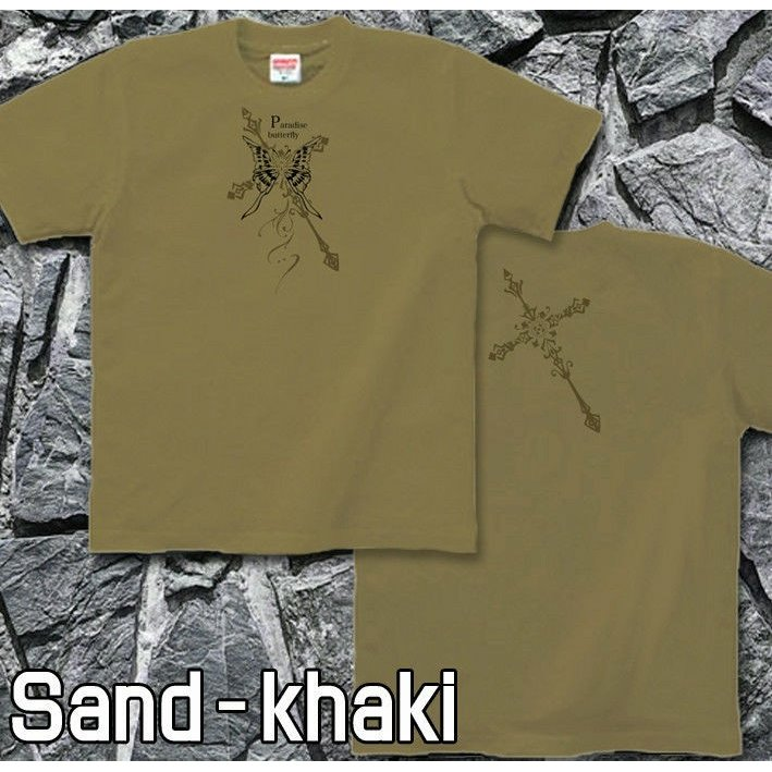 Tシャツ 蝶 バタフライ 十字架 きれいめ genju 06