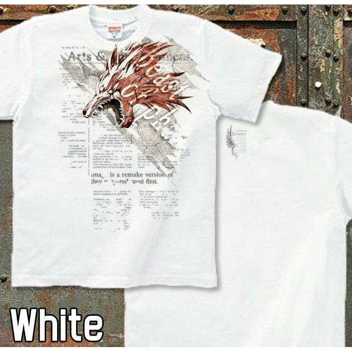 Tシャツ 狼 ウルフ アメカジ かっこいい|genju|05