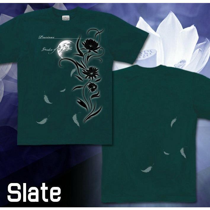 Tシャツ 花柄 きれいめ 幻想 美 気品|genju|04