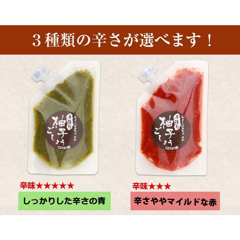 佐賀県七山産の柚子胡椒80g(送料無料)2袋購入でもう1袋プレゼント 3つの辛さから選べる ポイント消化 お試し ゆずこしょう 柚子こしょう genkiya6090 12