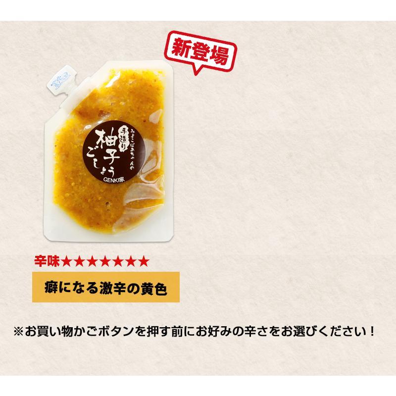佐賀県七山産の柚子胡椒80g(送料無料)2袋購入でもう1袋プレゼント 3つの辛さから選べる ポイント消化 お試し ゆずこしょう 柚子こしょう genkiya6090 13