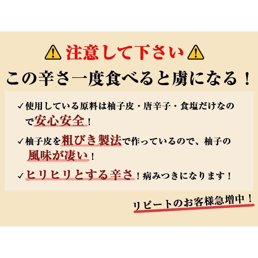 佐賀県七山産の柚子胡椒80g(送料無料)2袋購入でもう1袋プレゼント 3つの辛さから選べる ポイント消化 お試し ゆずこしょう 柚子こしょう genkiya6090 07