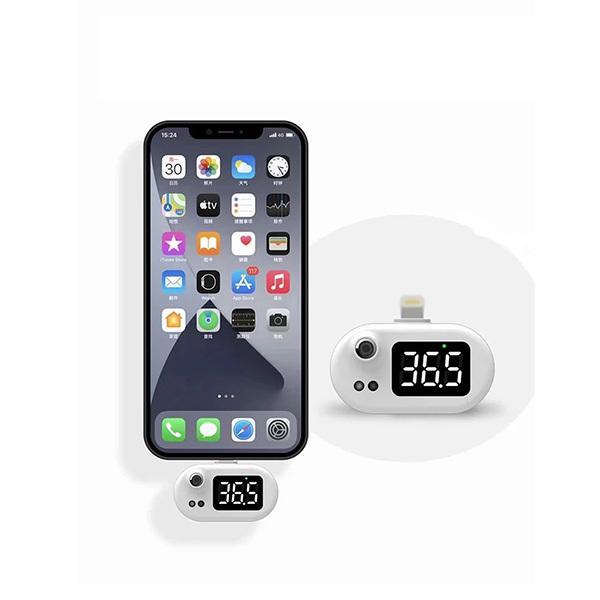 スマホ外付け赤外線体温センサー Lightning接続 [iOS K8] geno 03