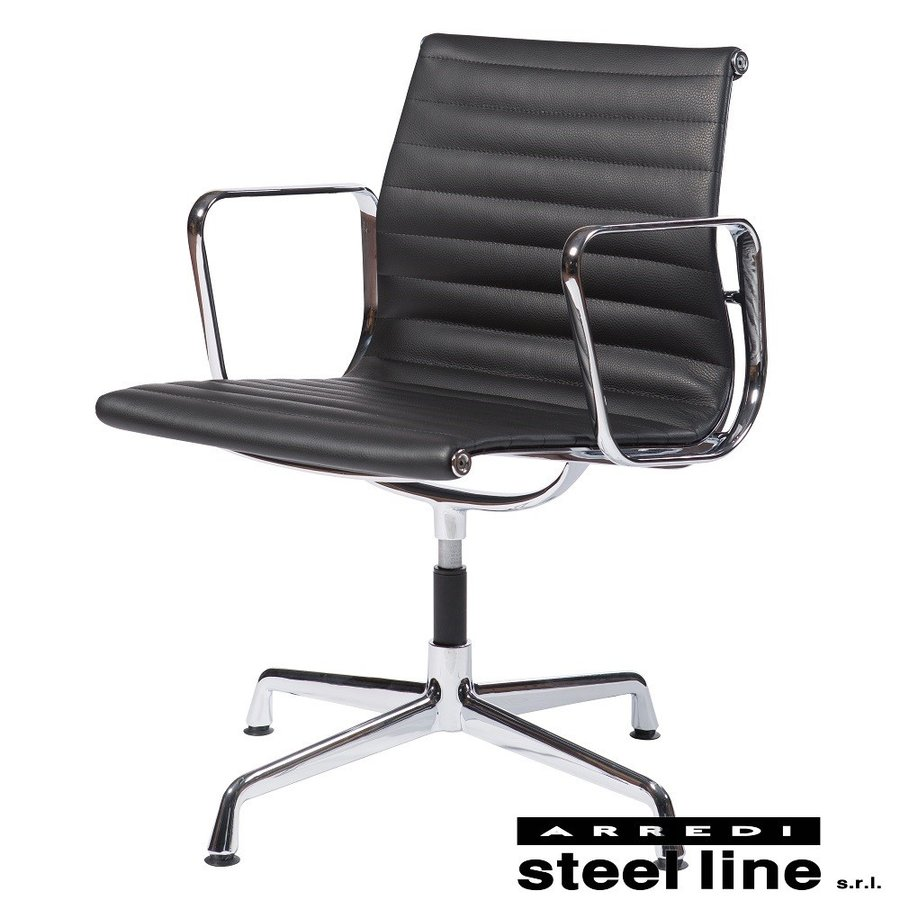 チャールズ&レイ・イームズ アルミナムグループ マネジメントチェア(FLAT) スティールライン社DESIGN900 (steelline)