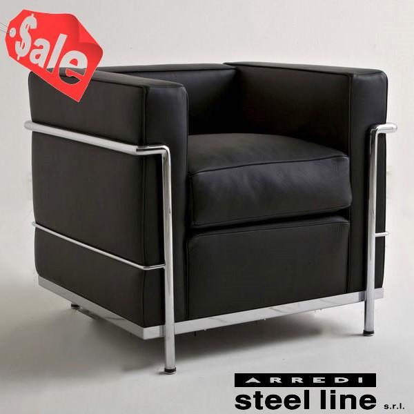 *週末限定セール* *週末限定セール* ル・コルビジェ LC2 1P スティールライン社DESIGN900 (steelline)