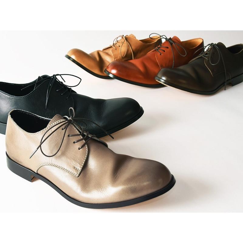 (革靴人気第1位) PADRONE パドローネ パドロネ JACK ジャック ダービープレーントゥシューズ メンズ 革靴 短靴 レザーシューズ PU7358-2001-11C|geostyle|02