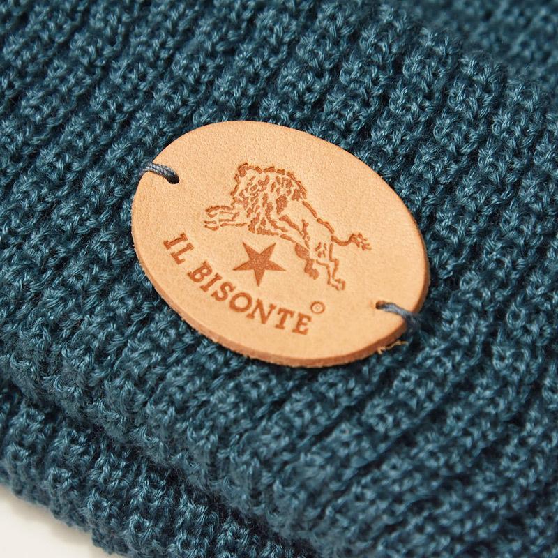 イルビゾンテ IL BISONTE レザーパッチ付き ニットキャップ ニット帽 レディース メンズ プレゼント 54152309183_54162309283【無料ラッピング対応】|geostyle|05