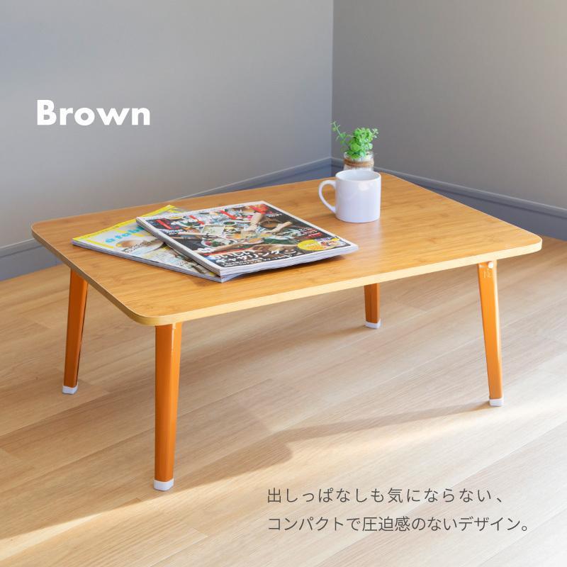 送料無料 テーブル 折りたたみ 一人用 ローテーブル 69cm 49cm 29cm 長方形 白 黒 ナチュラル ブラウン 折り畳み 1人用 小さい 小さめ おしゃれ ggbank 11