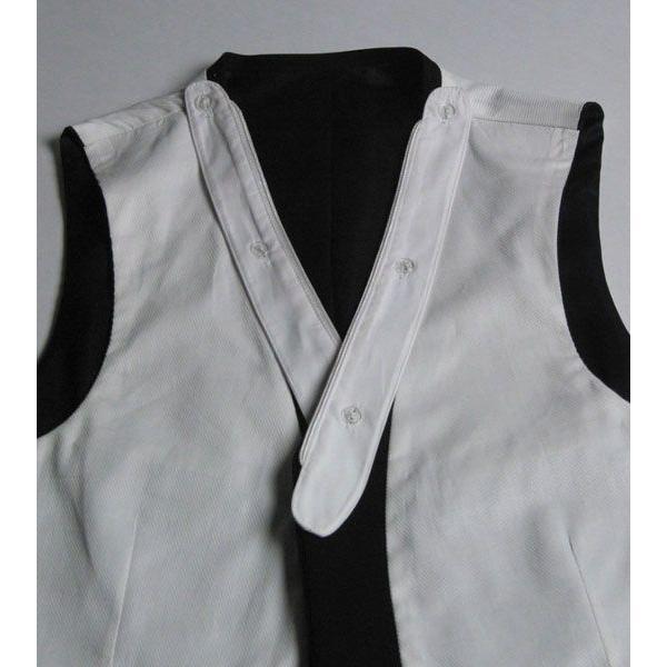 モーニングベストの白衿R393力ボタン7個付き|ghkwebshop|03