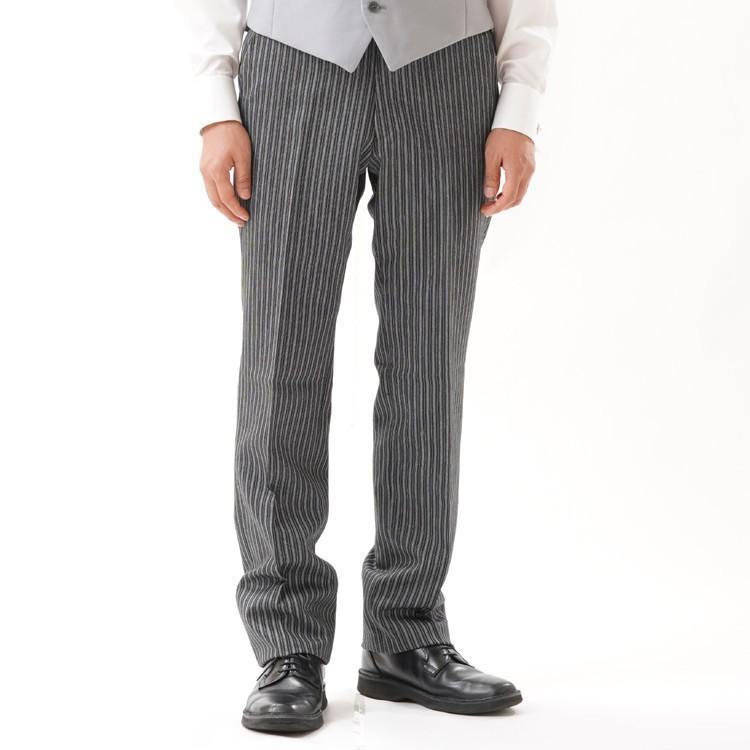 尾州素材のモーニングコートとSUPERTEXのノータックのアジャスター付き縞パンツの3点セットRM1824e1622 秋冬梅春向き|ghkwebshop|11